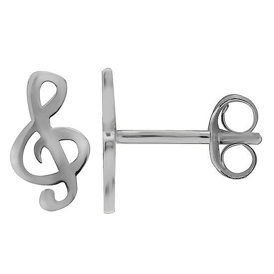 Sparkle Allure Sterling Silver 9.9mm Stud Earrings