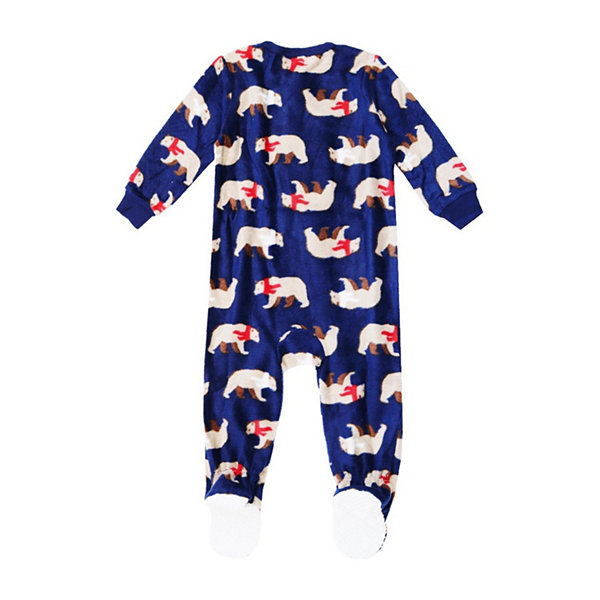 Holiday Famjams Bear 1 Piece Footed Pajama -Baby Unisex
