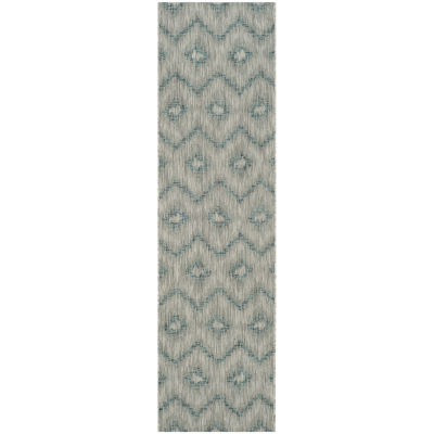 Safavieh Courtyard Collection Lexine Chevron Indoor/Outdoor Runner Rug