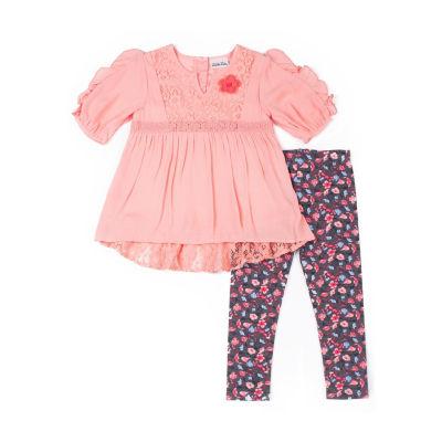 Little Lass 2-pc. Legging Set-Baby Girls