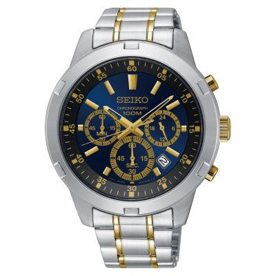 Seiko Mens Two Tone Strap Watch-Sks613