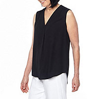 bba8a939ce5c Black Label by Evan-Picone Womens V Neck Sleeveless Blouse