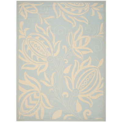 Safavieh Courtyard Collection Tarek Floral Indoor/Outdoor Area Rug
