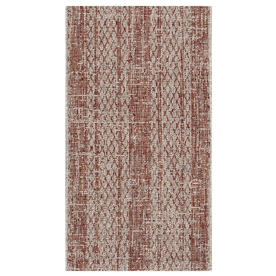 Safavieh Courtyard Collection Elena Geometric Indoor/Outdoor Area Rug