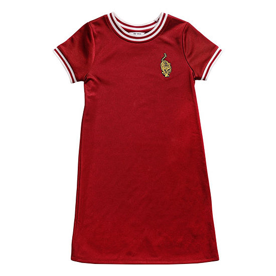 Obsess Girls Short Sleeve Fitted Sleeve A Line Dress Big Kid