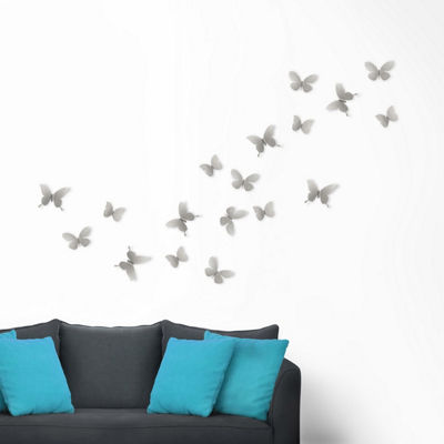 Umbra Mariposa Metal Wall Decor 9 Nickel 9-pc. Metal Wall Art