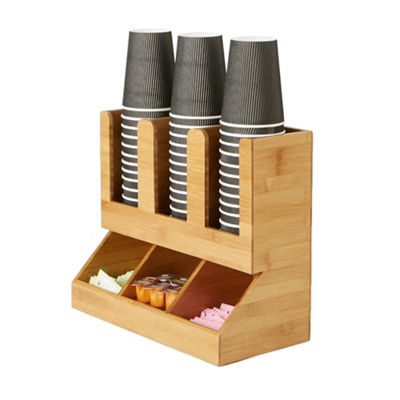 Mind Reader 6 Compartment Upright Coffee Condiment and Cup Organizer