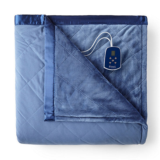 Micro Flannel®Ultra Velvet Heated Electric Blanket