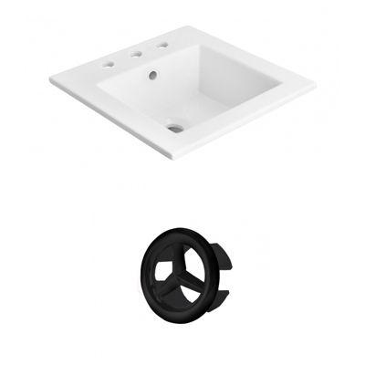21-in. W 3H8-in. Ceramic Top Set In White Color