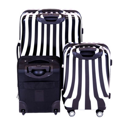 Ful White Swirl 3-pc. Lightweight Hardside & Softside Luggage Set