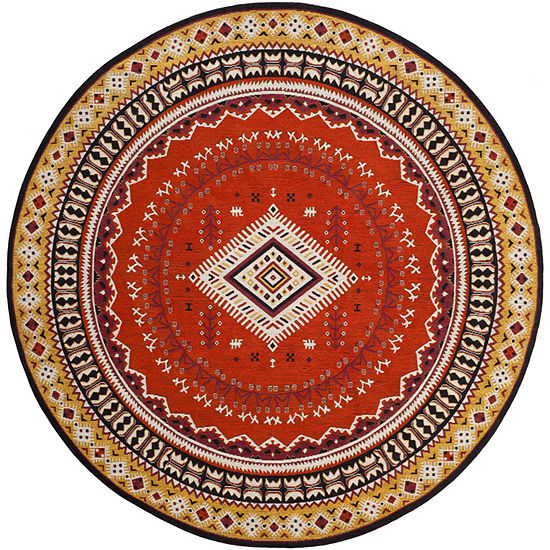 Safavieh Classic Vintage Collection Border Geometric Round Area Rug
