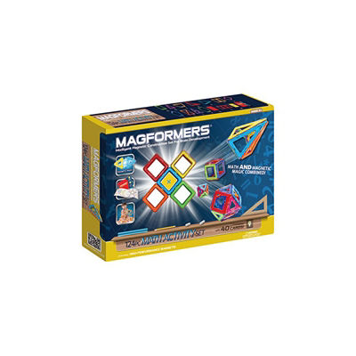 Magformers Math Activity 124 Piece Magnetic Construction Set