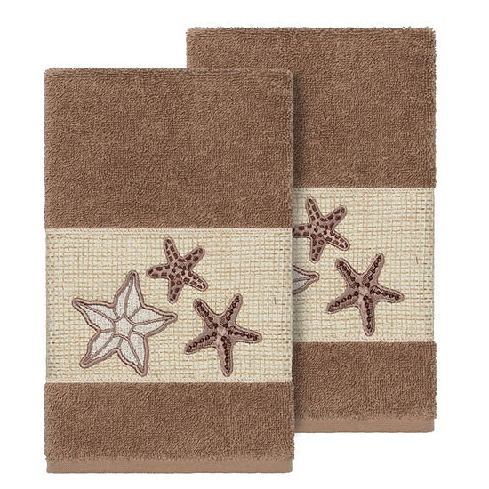Linum Home Textiles 100% Turkish Cotton Lydia Embellished Towel Collection