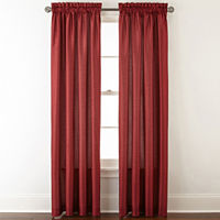 Deals on Plaza Thermal Interlined Room Darkening Rod-Pocket Curtain Panel