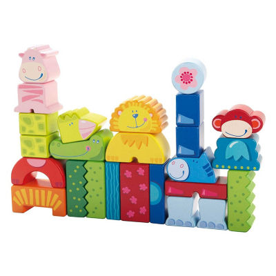 HABA Eeny, Meeny, Miny Zoo - 25 Piece Mix & Match Animal Blocks