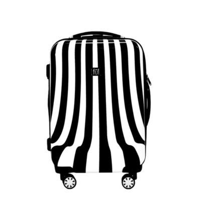 Ful White Swirl 20 Inch Hardside Lightweight Luggage