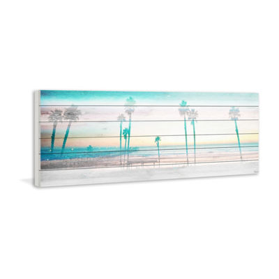 Playa in the Dusk Painting Print on White Wood