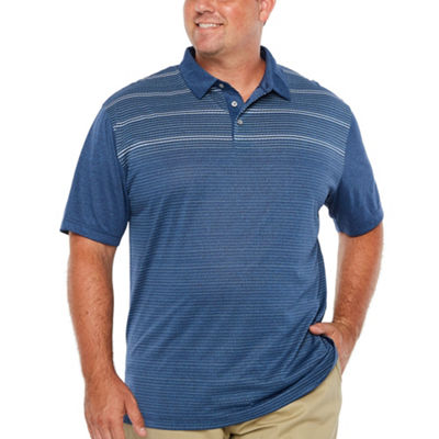 PGA TOUR Easy Care Short Sleeve Stripe Polo Shirt Big and Tall