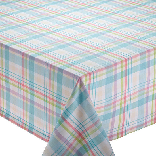 Design Imports Easter Basket Plaid Tablecloth