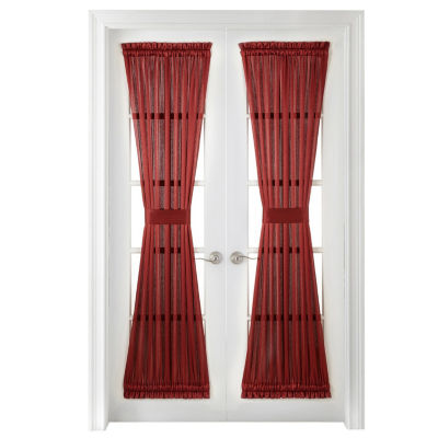 JCPenney Home Hilton Light-Filtering Rod-Pocket Door Panel Curtain
