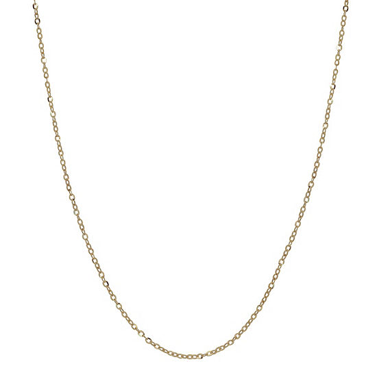 Made in Italy 14K Gold 18 Inch Solid Cable Chain Necklace