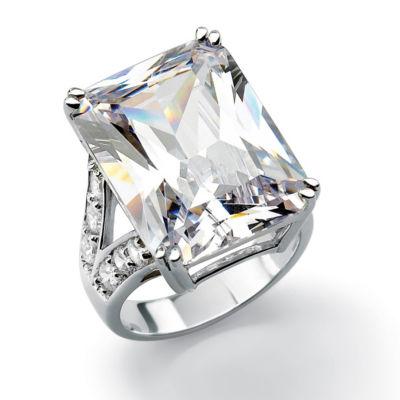 Diamonart Womens White Cubic Zirconia Brass Engagement Ring