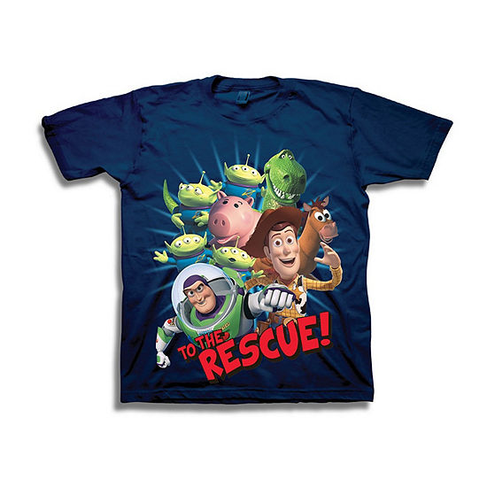 Boys Crew Neck Short Sleeve Toy Story Graphic T-Shirt - Preschool