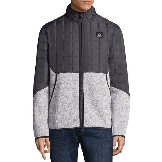 Men's Reebok Quilted Sweater Fleece Jacket