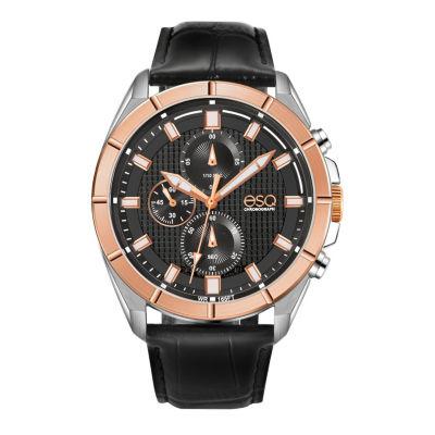 Esq Mens Black Strap Watch-37esq013301a