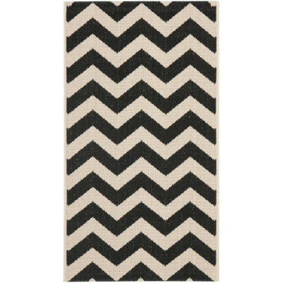 Safavieh Courtyard Collection Cennetig Chevron Indoor/Outdoor Area Rug