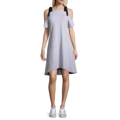 Project Runway Cold Shoulder Sweatshirt Dress