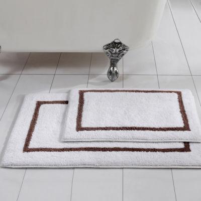Pacific Coast Textiles Two-Tone Cotton Reversible 2-pc.  Bath Rug Set