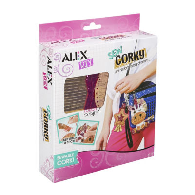 ALEX DIY Sew Corky Uni Zebra Bag Charms