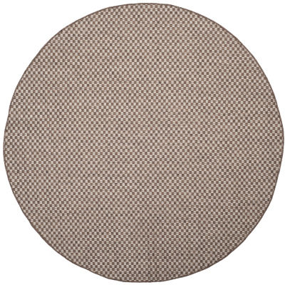 Safavieh Courtyard Collection Blanca Geometric Indoor/Outdoor Round Area Rug