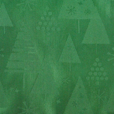 Design Imports Green Holiday Trees Tablecloth