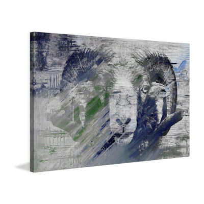 Ram in Charge Painting Print on Wrapped Canvas