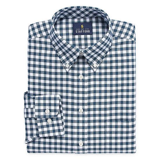 Stafford Travel Stretch Oxford Long Sleeve Dress Shirt