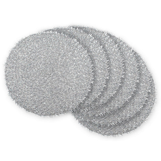 Design Imports Round Woven Indoor/Outdoor Placemat Set of 6