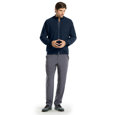 Barco™ One Men's Bomber Crew Neck Zip Scrub Jacket-Big