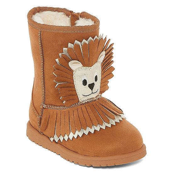 Okie Dokie Girls Gingerbread Winter Boots