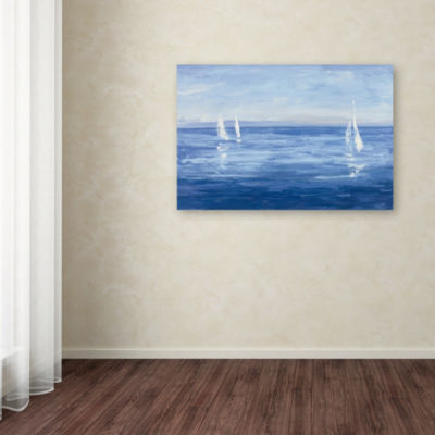 Trademark Fine Art Julia Purinton Open Sail GicleeCanvas Art