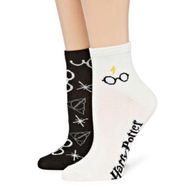 Womens 2 Pk Novelty Ankle Socks
