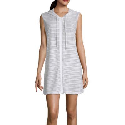 Porto Cruz Stripe Terry Cloth Swimsuit Cover-Up Dress