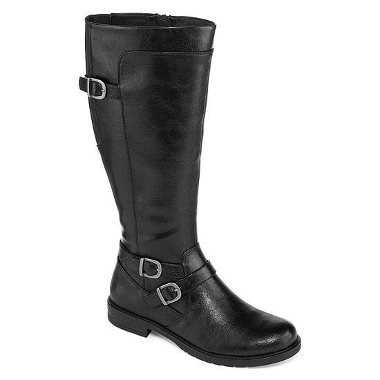 Yuu Womens Camron Zip Riding Boots