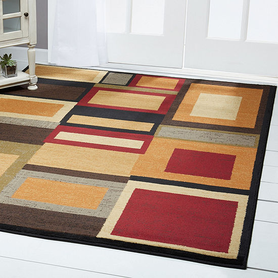 Home Dynamix Royalty Cassi Geometric Rectangular Rug