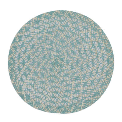Design Imports Round Braided Placemat Set of 6