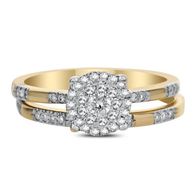 Womens 3/8 CT. T.W. Genuine White Diamond 14K Gold Bridal Set