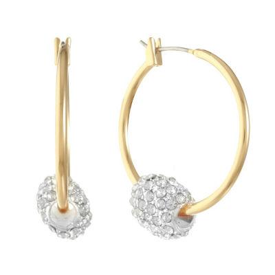 Monet Jewelry Clear 31mm Hoop Earrings