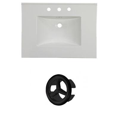 30.75-in. W 3H8-in. Ceramic Top Set In White Color