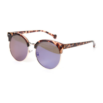 Converse Half Frame Round UV Protection Sunglasses-Womens